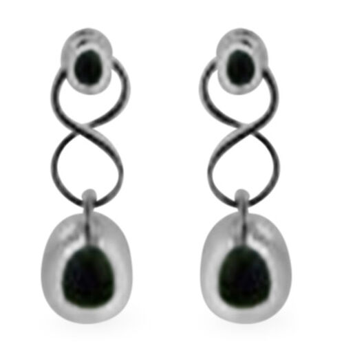 Thai Sterling Silver Earrings (with Push Back), Silver wt 4.20 Gms.
