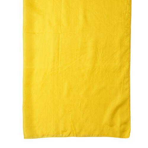 Pantone Collection - 100% Mulberry Silk Primrose Yellow Colour Scarf (Size 175X90 Cm)