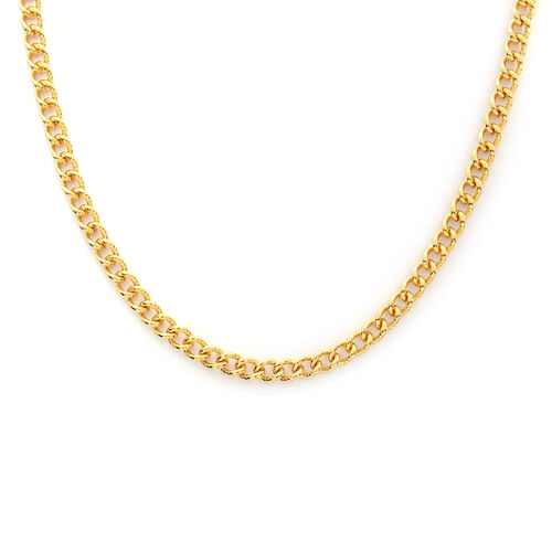 Curb Necklace (Size 20) in Yellow Gold Overlay Stainless Steel