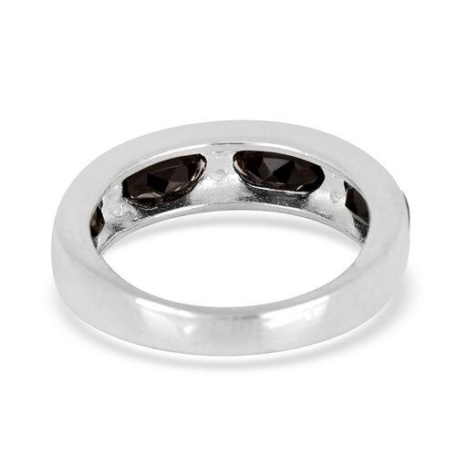 Thai Black Spinel (2.50 Ct),White Topaz Sterling Silver Ring  2.750  Ct.