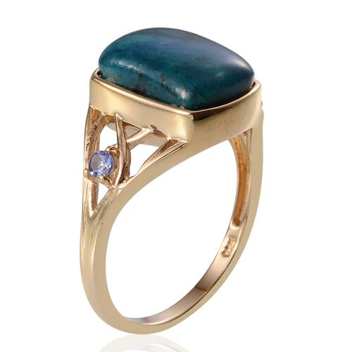 Table Mountain Shadowkite (Cush 9.00 Ct), Tanzanite Ring in 14K Gold Overlay Sterling Silver 9.250 Ct.