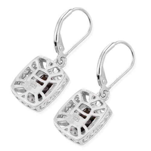 Natural Zawadi Golden Sheen Sapphire (Cush) Lever Back Earrings in Platinum Overlay Sterling Silver 3.750 Ct.