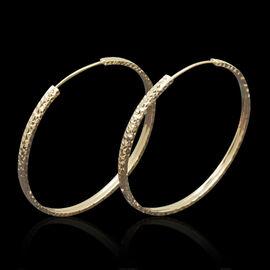 Royal Bali Collection 9K R Gold Hoop Earrings