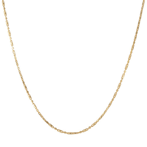 Vicenza Collection 14K Gold Overlay Sterling Silver Chain (Size 20), Silver wt 4.24 Gms.