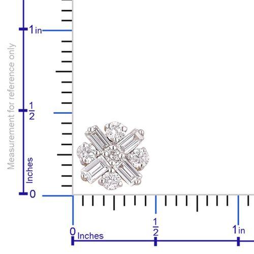 One Off ILIANA 18K Yellow Gold 0.50 Carat Diamond Stud Earrings SI/G-H IGI Certified