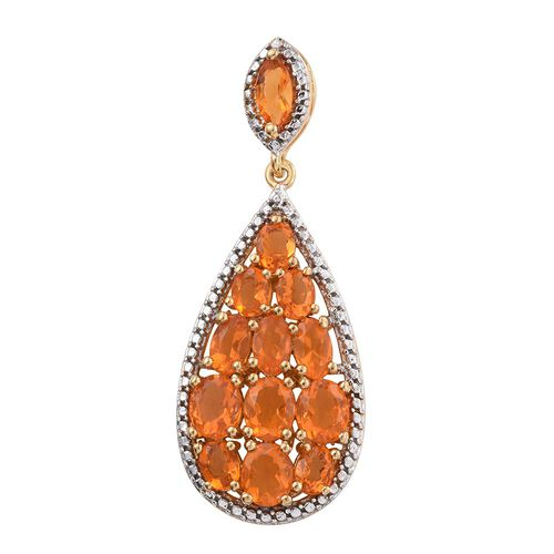 Jalisco Fire Opal (Ovl) Pendant in 14K Gold Overlay Sterling Silver 2.00  Ct.