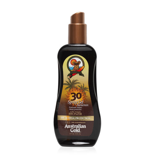 (Option 2) AUSTRALIAN GOLD-SPF 30 Spray Gel W-Bronzer 237ml (Delivery 4 to 6 Working Days)