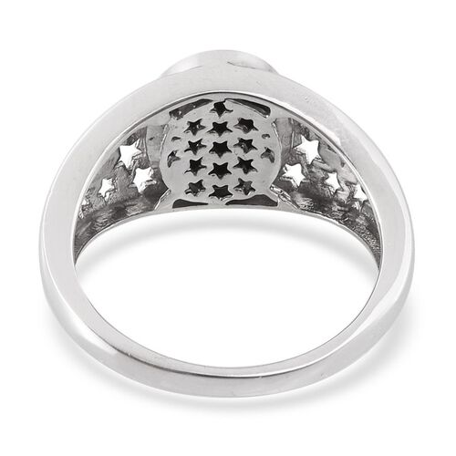 Goldenite (Ovl) Solitaire Ring in Platinum Overlay Sterling Silver 2.000 Ct.