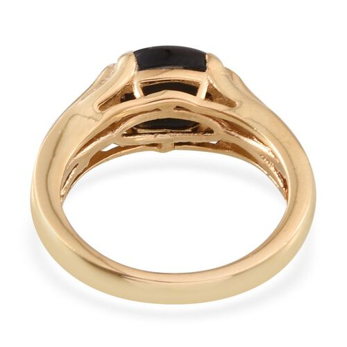 Goldenite (Ovl) Solitaire Ring in 14K Gold Overlay Sterling Silver 1.750 Ct.