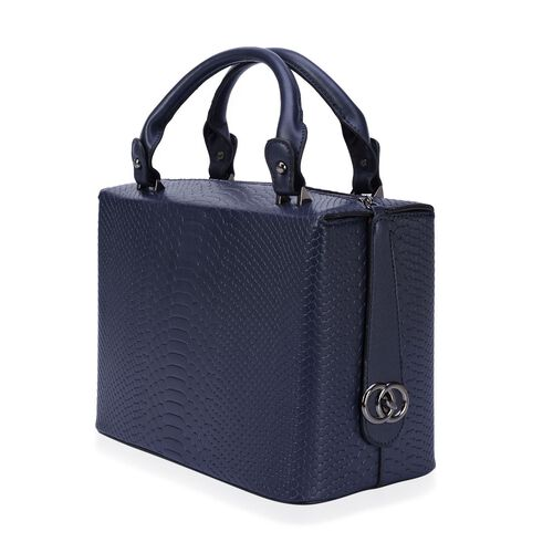Rosaria Croc Embossed Top Handle Bag (Size 29.5x21x15.5 Cm)