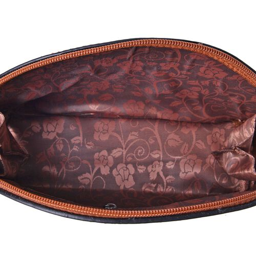 Tan Colour Cosmetic Bag (Size 23x15.5x7 Cm)