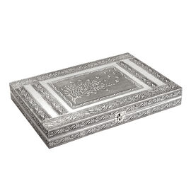 100 Ring Box with Tree of Life Pattern Embossed On Top (Size 37x25 Cm)