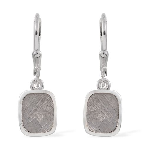 Meteorite (Cush) Earrings in Platinum Overlay Sterling Silver 10.750 Ct.