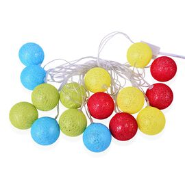 Red, Yellow, Blue and Green LED Balls Light String (Size 4 meters)