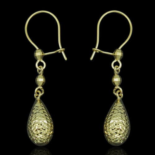 Royal Bali Collection 9K Y Gold Hook Earrings