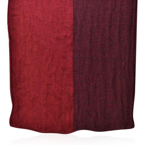 Red and Black Colour Scarf (Size 210x70 Cm)