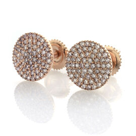 ILIANA 18K R Gold Very Rare Natural Pink Diamond (Rnd) Stud Earrings (with Screw Back) 0.500 Ct.