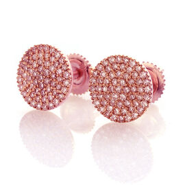 Iliana Natural Pink Diamond (0.50 Ct) 18K R Gold Earring  0.500  Ct.
