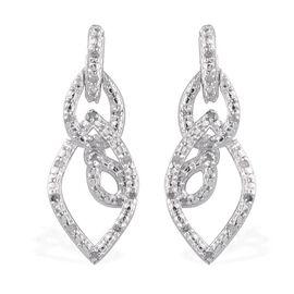 Diamond (Rnd) Earrings in Platinum Overlay Sterling Silver 0.150 Ct.