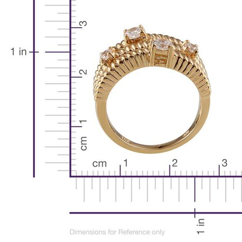 Simulated Diamond (Rnd) Ring in 14K Gold Overlay Sterling Silver