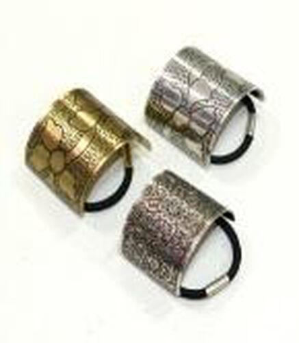 Set of 3 - Silver and Gold Plated Brass Hair Band