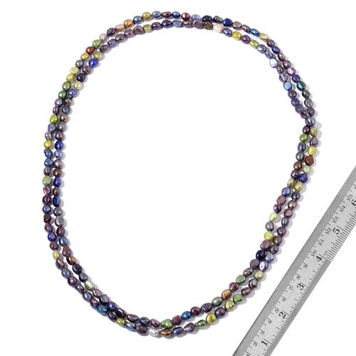 (Option 3) Fresh Water Multi Colour Pearl Necklace (Size 64)
