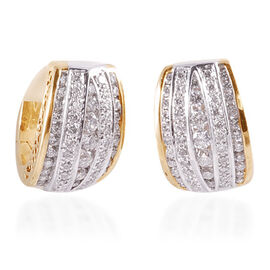 Close Out Deal 14K Yellow and White Gold Diamond (Rnd) Earrings 0.600 Ct. 8.87gms gold