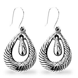 (Option 1) Thai Sterling Silver Hook Earrings, Silver wt 8.95 Gms.