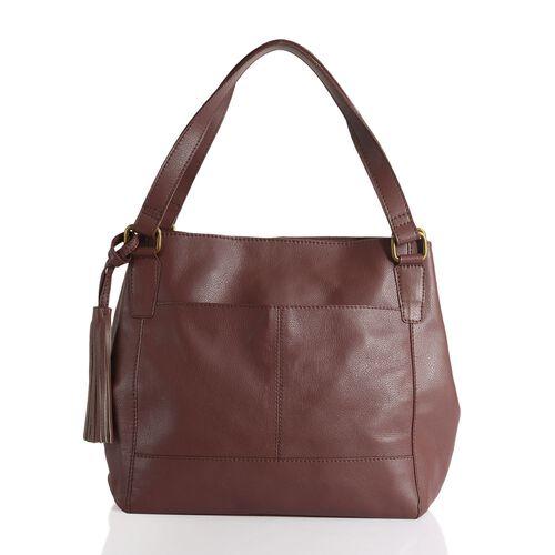 Pottery Genuine Leather Burgundy Colour Shoulder Bag
