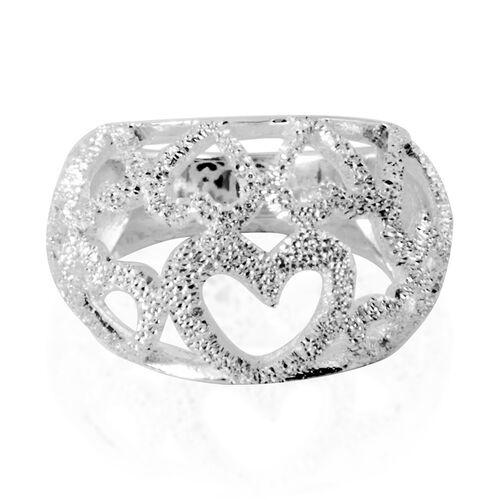 Thai Sterling Silver Heart Ring, Silver wt 7.00 Gms.