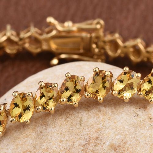 Marialite (Ovl) Bracelet (Size 7.5) in 14K Gold Overlay Sterling Silver 12.000 Ct.