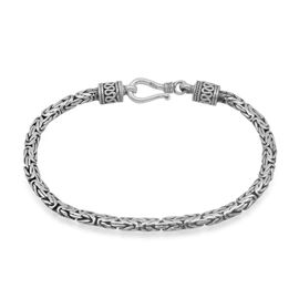 Royal Bali Collection Sterling Silver Borobudur Bracelet (Size 7), Silver wt 9.78 Gms.