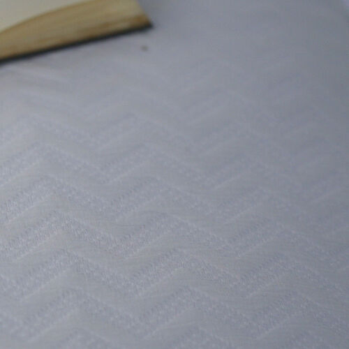 Woven in Portugal Pique Bedspread Waves White 240x260 cm 80% Egyptian Cotton 20% Polyester for strength.