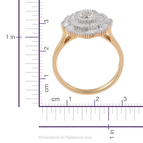 Limited Available - Diamond (Rnd) Ballerina Ring in 14K Gold Overlay Sterling Silver 1.150 Ct.