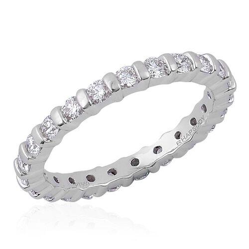 RHAPSODY 950 Platinum IGI Certified Diamond (Rnd) (VS/E-F) Full Eternity Ring 1.000 Ct.
