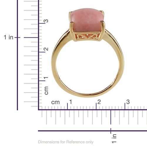 Peruvian Pink Opal (Cush) Solitaire Ring in Yellow Gold Overlay Sterling Silver 5.000 Ct.