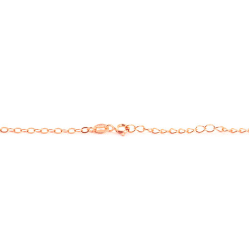 Simulated Diamond Infinity Necklace (Size 18) in Rose Gold Overlay Sterling Silver