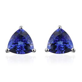 ILIANA 18K W Gold AAA Tanzanite (Trl) Stud Earrings (with Screw Back) 3.000 Ct.