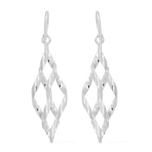 Thai Sterling Silver Diamond Cut Design Earrings, Silver wt 2.72 Gms.