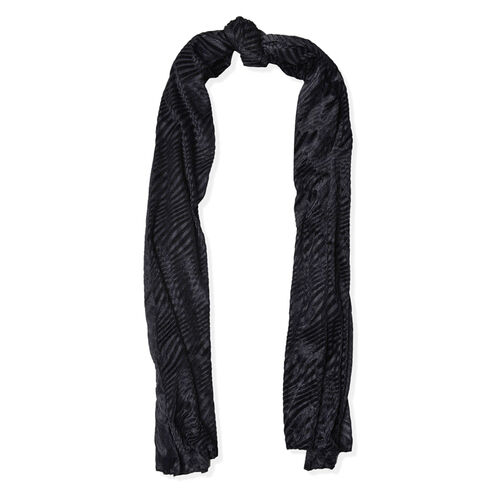 Designer Inspired Black Colour Scarf (Size 170x70 Cm)