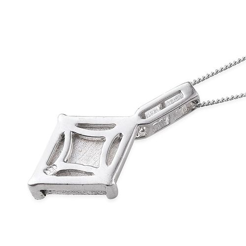 Meteorite and Boi Ploi Black Spinel Pendant With Chain in Platinum Overlay Sterling Silver 6.520 Ct.