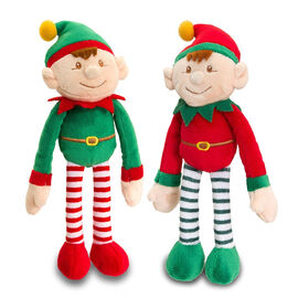 Keel - Pair of Dangly Red and Green Xmas Elves (Size 25x5 Cm)