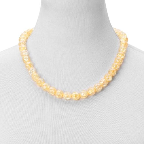 Simulated Citrine Ball Beaded Necklace (Size 20) with Magnetic Clasp
