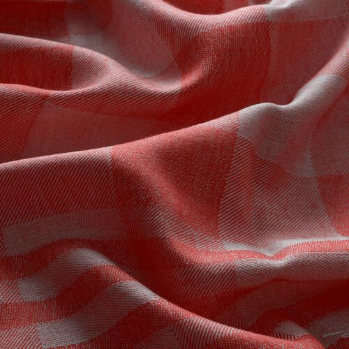 Modal and Cotton Checks Pattern Red Colour Shawl (Size 170x70 Cm)
