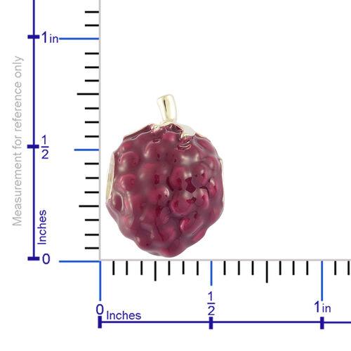 RACHEL GALLEY Sterling Silver Purple Enameled Pendant, Silver wt 3.69 Gms.