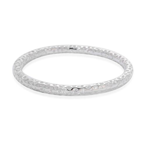 RACHEL GALLEY Sterling Silver Allegro Bangle (Size 7.5 / Small), Silver wt 18.41 Gms.