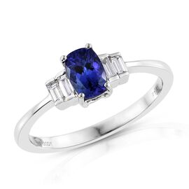 Webex - RHAPSODY 950 Platinum AAAA Tanzanite (Cush 0.75 Ct), Diamond Ring 1.000 Ct.