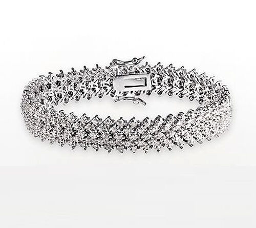 Diamond (Rnd) Bracelet in Sterling Silver (Size 7) 2.000 Ct.