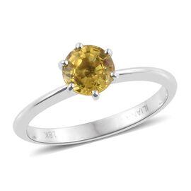 ILIANA 18K White Gold 1 Carat Yellow Sapphire Solitaire Ring