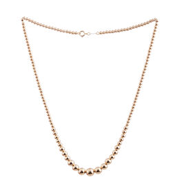 One Time Close Out Deal 14K Y Gold Graduated Bead Necklace (Size 18), Gold wt 3.75 Gms.